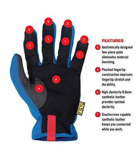 Mechanix Wear Small Black And Blue FastFit Full Fi