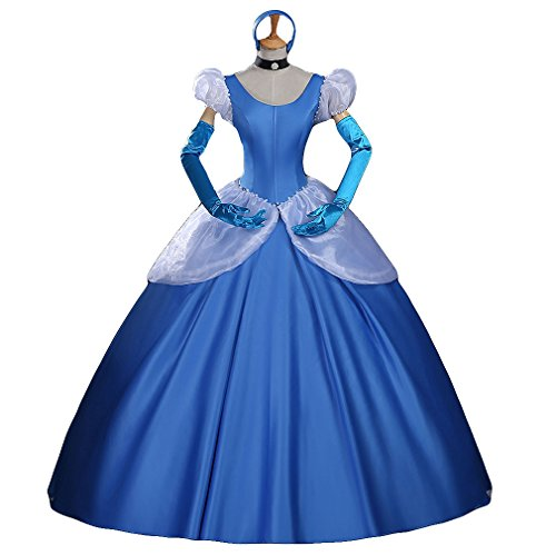Halloween Costume Adult Women's Deluxe Animated Princess Cosplay Dress Ball Gowns (Adult Halloween Custome)