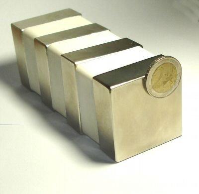 1 Neodym-Supermagnet 50 x 50 50 50 x 20 mm - Zugkraft ca. 100 kg   b5bff5