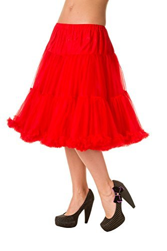 Banned Apparel - Falda - trapecio - para mujer Rosso