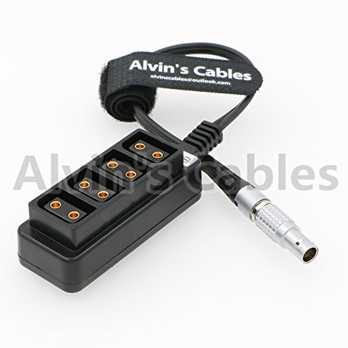 (Alvin's Cables 2 pin lemo Male to 4 Female D-tap Splitter Cable for ARRI RED DSMC2 Jetpack RTmotion Sidekick)