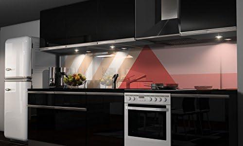 Film autocollant décoratif pour cuisine - Protection anti-éclaboussures, H: 65cm x B: 300cm