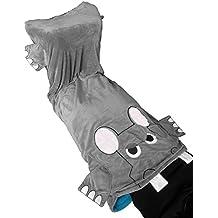 LAGHCAT Kids Blankets Funny Flannel Animal Sleeping Bag for Kids Youth warmly Cute Children Blanket - Grey Hippo 56'' H x 27''W