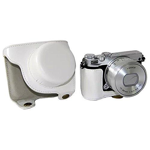 怠惰ほかにつかまえるFIRST2SAVVV 白 ニコン Nikon 1 J5 with 10-30mm Lens 専用 PU レザー レフ カメラバッグ カメラケース XJPT-J5-05
