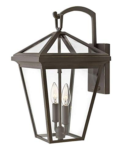 Hinkley 2564OZ-LL Alford Place Outdoor Wall Sconce, 2-Light LED 10 Total Watts, Oil Rubbed Bronze