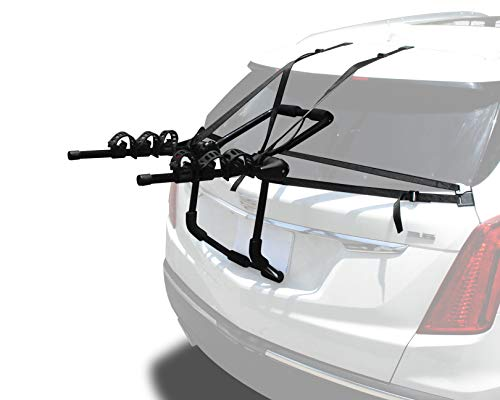 9sparts New Universal Fordable Bike Rack 3-Bike Carrier Mounted Storage Bicycle Rack for Car SUV Truck