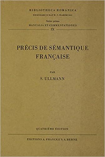 Livres Precis De Semantique Francaise pdf