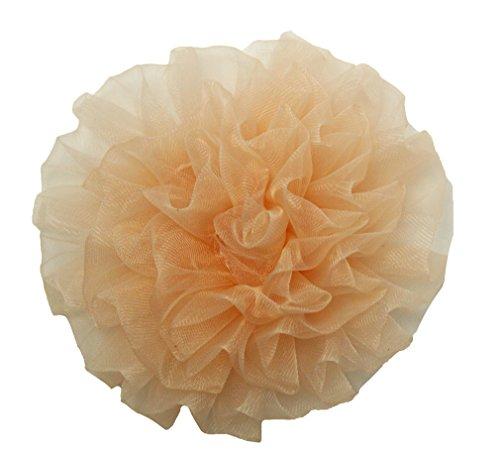 """Wholesale Princess 3.5"""" Chiffon Floral Hair Clip Peach"""