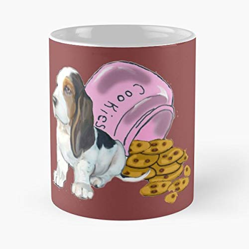 Basset Hound Cookie Jar Spilled Cookies Guilty Dog - Funny Gifts For Men And Women Gift Coffee Mug Tea Cup White 11 Oz.the Best Holidays.