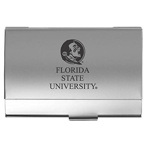 Florida State University - Two-Tone Business Card Holder - Silver