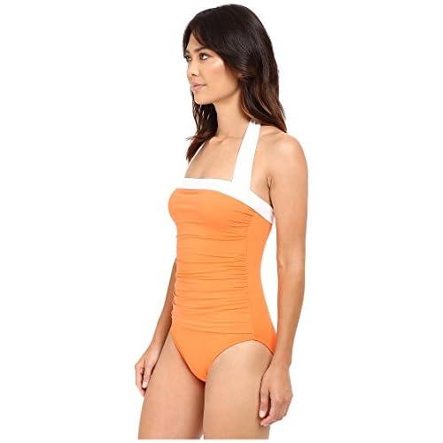 b4602878fa5 LAUREN Ralph Lauren - Bel Aire Solids Shirred Bandeau Mio Swimsuit 50%OFF