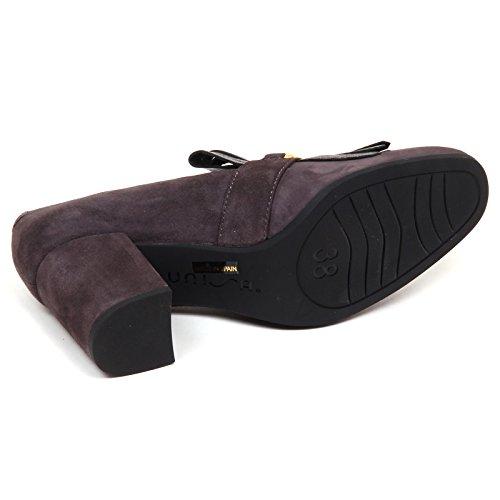 Scarpe Unisa Frange Grigio Olimpo Suede E6482 Decollete Shoe Donna Grey Woman XnxX7qr