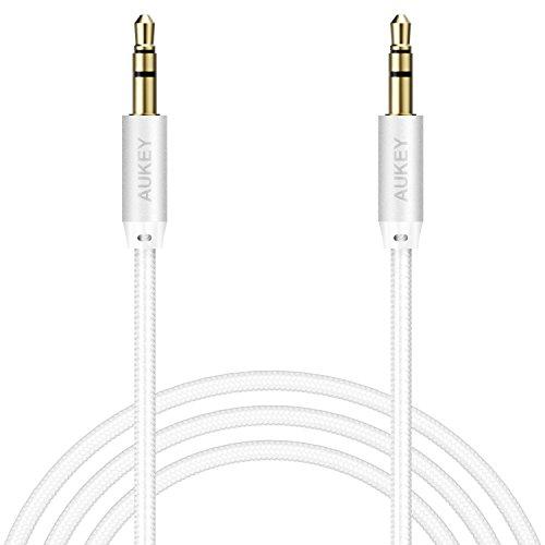 AUKEY Braided Stereos Headphones Smartphones