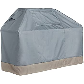 VonHaus BBQ Grill Cover - 'The Storm Collection' Premium Heavy Duty Waterproof Outdoor Barbecue Grill Protection - Slate Grey with Beige Trim L64 x L26 x H50