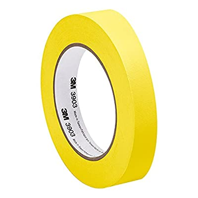 "3M Yellow Vinyl/Rubber Adhesive Duct Tape 3903, 0.75-50-3903-YELLOW 12.6 psi Tensile Strength, 50 yd. Length, 0.75"" Width by 3M"