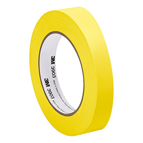 3M Yellow Vinyl/Rubber Adhesive Duct Tape 3903, 0.75-50-3903-YELLOW 12.6 psi Tensile Strength, 50 yd. Length, 0.75