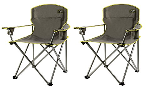 Quik Chair Heavy Duty Folding Camp Grey Pack Of 2