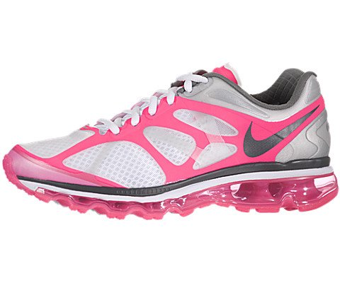 Nike Air Max+ 2012 Womens Running Shoes White/Dark Grey-P...