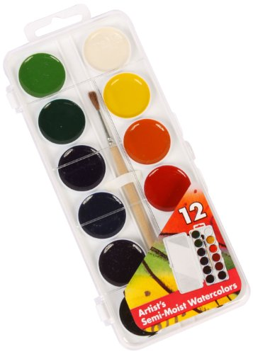 (Jack Richeson Student Semi Moist Watercolor, Set of 12)