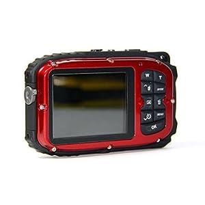 PowerLead Gapo G051 2.7 Inch LCD Cameras16 MP Digital Camera Underwater 10m Waterproof Camera+ 8x Zoom(red)