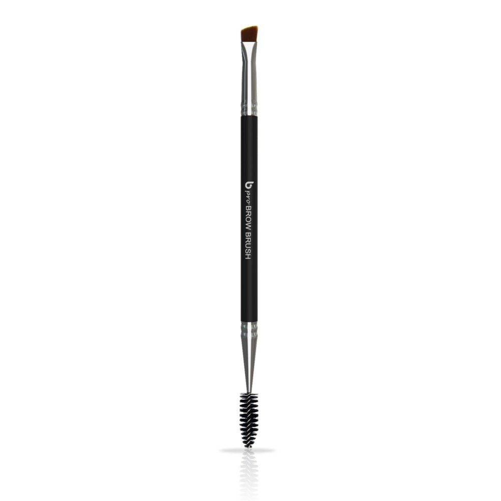 Duo Angled Eyebrow Brush Spoolie - Eye Brow Makeup Comb with Thin Angle Synthetic Bristle to Define, Shape and Blend for Perfect Brows Every Time, Works with All Cosmetic Fillers, Brocha Para Cejas