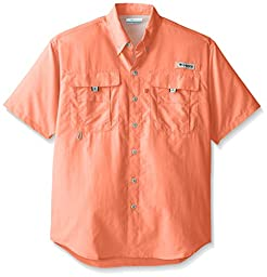 Columbia Sportswear Men\'s Bahama II Short Sleeve Shirt, Bright Peach, 5X