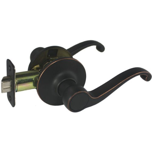 Designers Impressions Richmond Design Oil Rubbed Bronze Passage Door Lever (Hall and Closet)