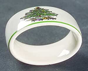 Amazon Com Spode Christmas Tree Green Trim Napkin Ring