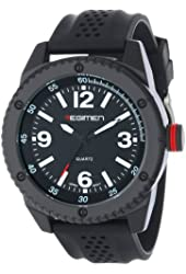 Wrist Armor Men's RW1022 Black Analog Watch with Black Dial and White Markings
