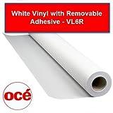 Oce VL6R 6.5 mil White Vinyl Removable Adhesive - VL6R36100 - 36'' x 100'
