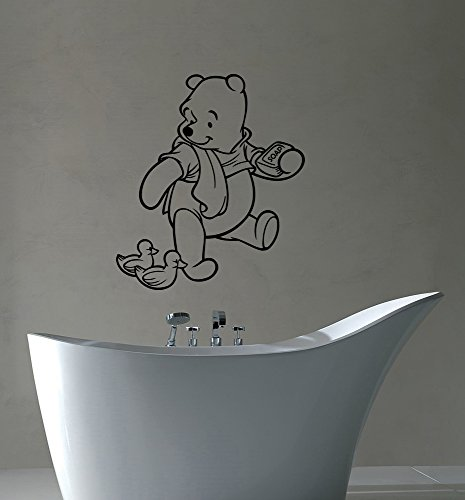 Winnie The Pooh Removable Wall Decal Disney Decorations for Home Housewares Kids Room Bedroom Baby Shower Cartoon Decor (Disney Winnie The Pooh Wall Hanging)