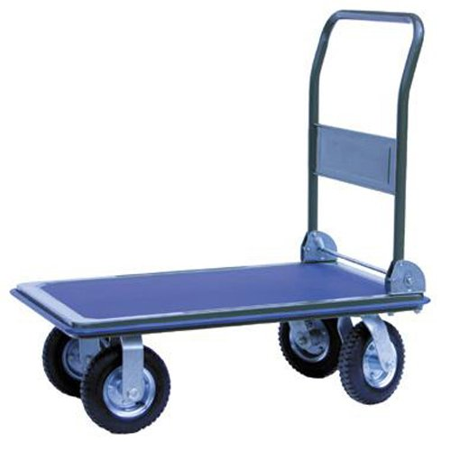 Action Handling PH301 Pneumatic Wheel Platform Truck, 300 kg Load Capacity, 915 mm Length x 615 mm W x 960 mm H Action Handling Equipment Ltd