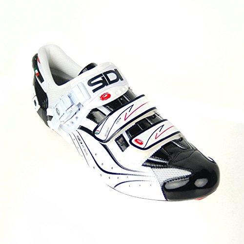 Sidi Genius 6.6 Vent Carbon Shoes Black Vernice/White, 43.0 - Men's