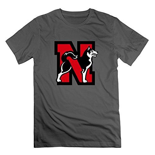 (ZhiXiong Men O-Neck Northeastern University T-shirt M DeepHeather)