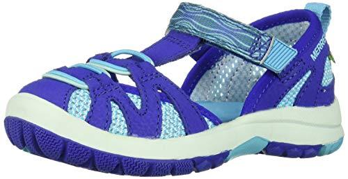 Merrell Girls' Hydro Monarch 2.0 Sandal Blue/Turquoise 2 Wide US Little ()