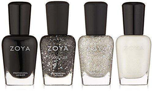 Zoya Polish Quad Nail Polish, Winter Wishes, 4 Count