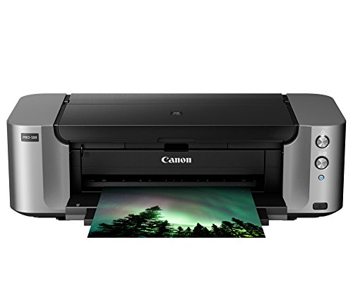Canon PIXMA Pro-100 Wireless Color Professional Inkjet Printer with...