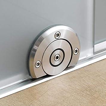 Repuesto de gu/ía inferior de acero inoxidable para puertas correderas de cristal sin marco