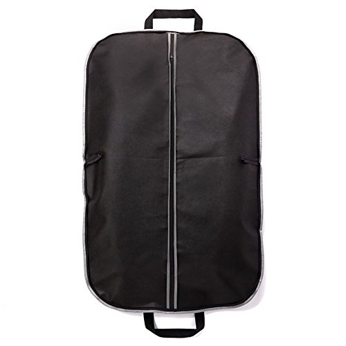 [Yamde 1Pcs black Breathable Garment Bag 40 Inch Dress / Garment Cover - 2 Handles and Full Zip] (Rolling Dance Costumes Carrier)