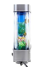 Lightahead Artificial Tropical Fish Aquarium Decorative Lamp with Multi Colored Artificial Fish and Ocean in Motion