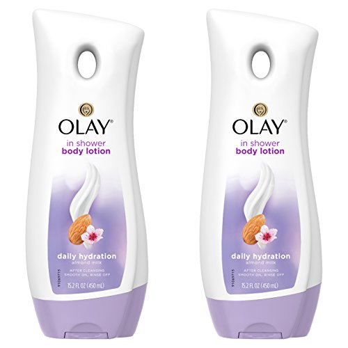 OLAY In Shower Lotion Daily Hydration Almond Milk 15.2 oz ( Pack of 2)