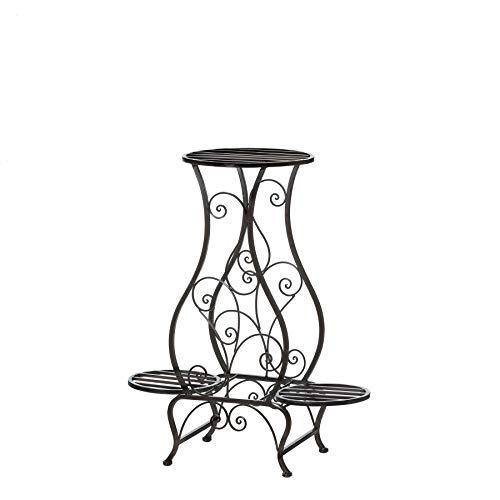 (Koehler Home Decor Indoor Triple Hourglass Centerpiece Iron Plant Stand)