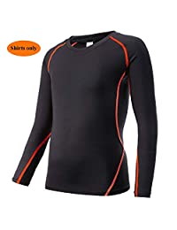 TERODACO Kids Long Sleeve Compression Shirts or Pants Thermal Base Layer Undershirt Unisex