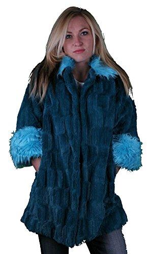 Iron Fist Tigre & Bunny Faux Electric Fur Coat XL