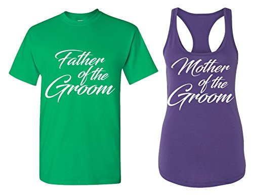 Father and Mother of Groom Matching Bachelorette Party T Shirts - Bridal Tank Tops]()