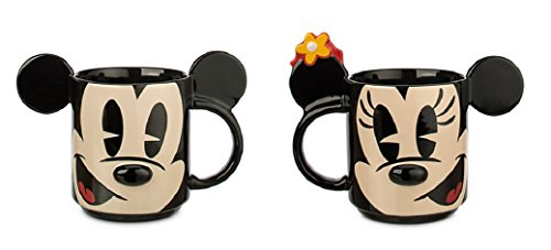 Disney   Mickey And Minnie Mouse Dimensional Mugs Set Of 2   New
