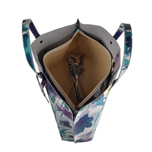 Borsa A Mano In Vera Pelle Colore Blu - Pelletteria Toscana Made In Italy - Borsa Donna