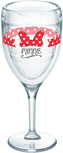 (Tervis 1250035 Disney-Your Minnie Insulated Tumbler with Wrap, 9oz Wine Glass, Clear )