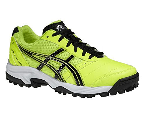 Asics - Zapatillas de hockey sobre hierba para niño, color Amarillo, talla 2 UK: Amazon.es: Zapatos y complementos