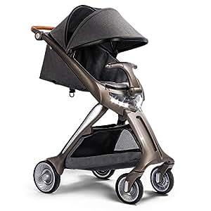 QZX Silla de Paseo Cochecito de bebé Ligero y Plegable Silla de Paseo para bebé Sistema